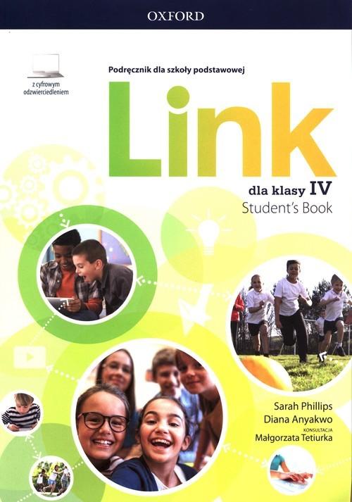 okładka Link 4 Podręcznik z cyfrowym odzwierciedleniem Szkoła podstawowaksiążka      Sarah Phillips, Diana Anyakwo