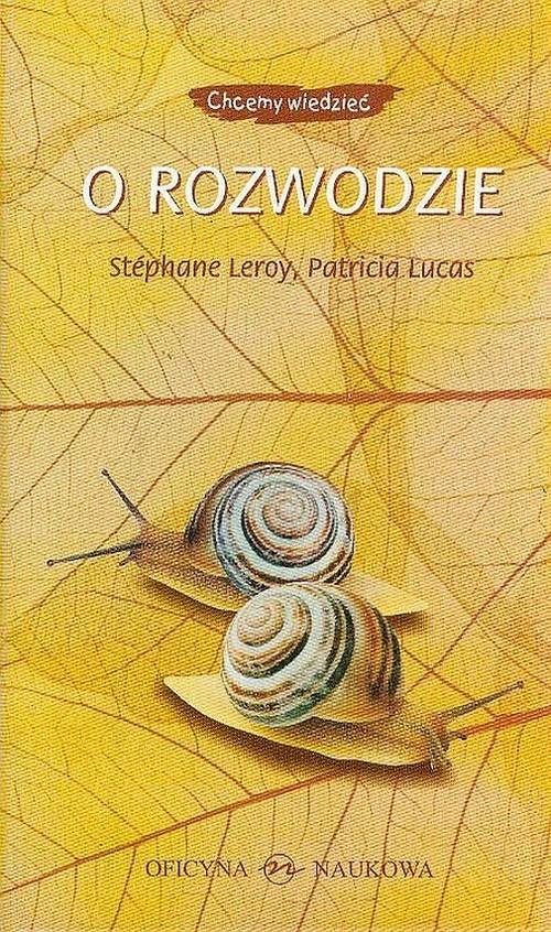 okładka O rozwodzieksiążka      Stephane Leroy, Patricia Lucas