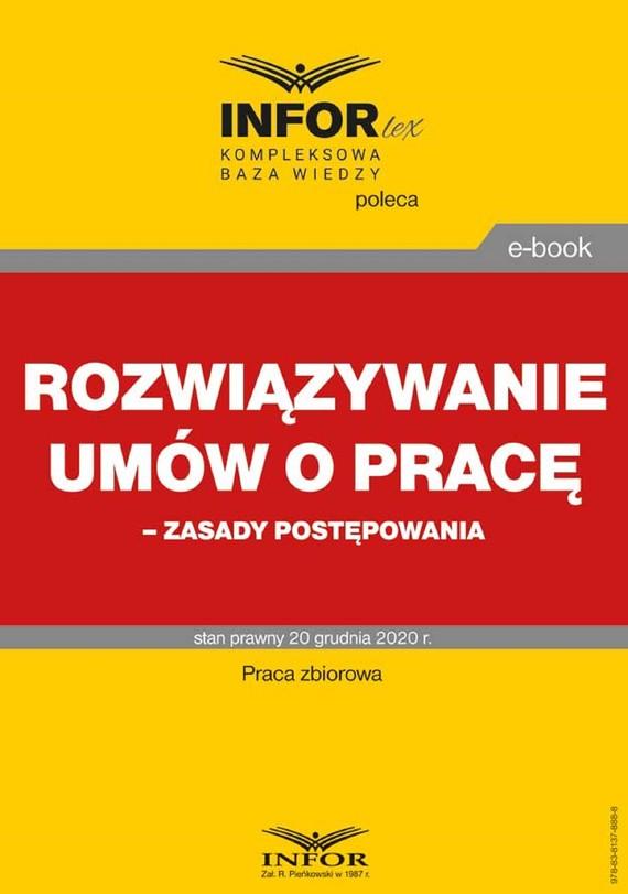 okładka Rozwiązywanie umów o pracę – zasady postępowaniaebook | pdf | Praca zbiorowa