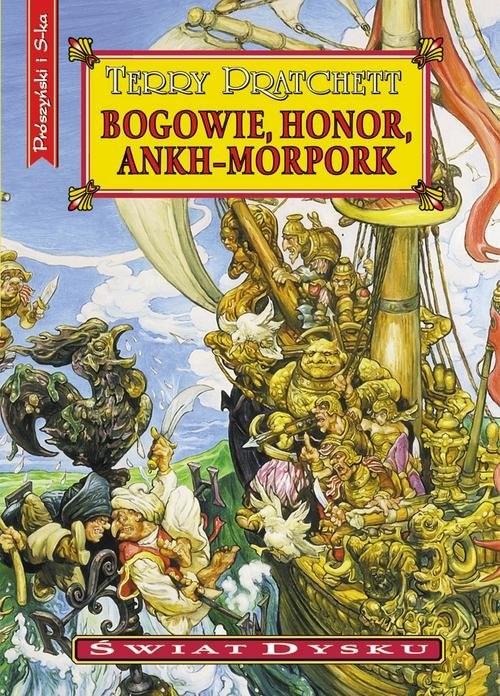 okładka Bogowie, honor, Ankh-Morporkksiążka      Terry Pratchett