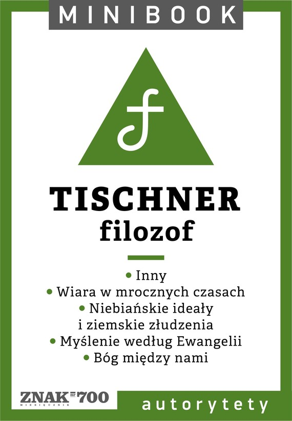 okładka Tischner [filozof]. Minibookebook   epub, mobi   Ks. Józef Tischner