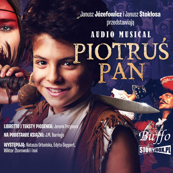 okładka Piotruś Pan: Audio Musicalaudiobook | MP3 | James M. Barrie, Jeremi Przybora