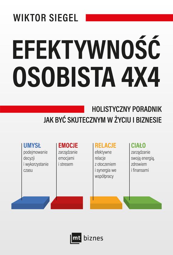 okładka Efektywność osobista 4x4ebook | epub, mobi | Siegel Wiktor