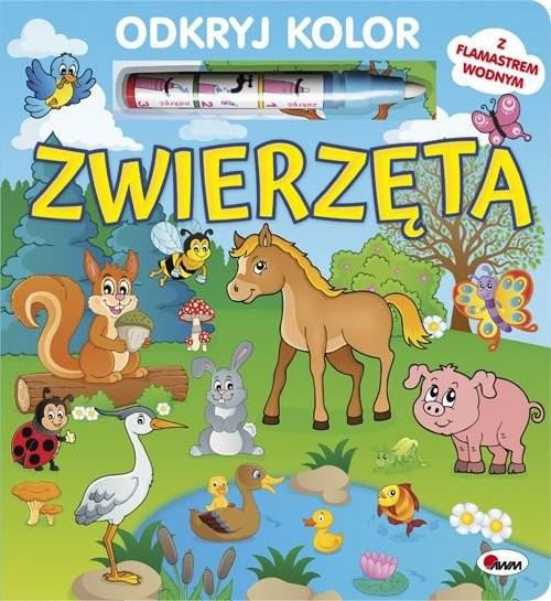okładka Odkryj kolor Zwierzętaksiążka |  | Kwiecińska Mirosława