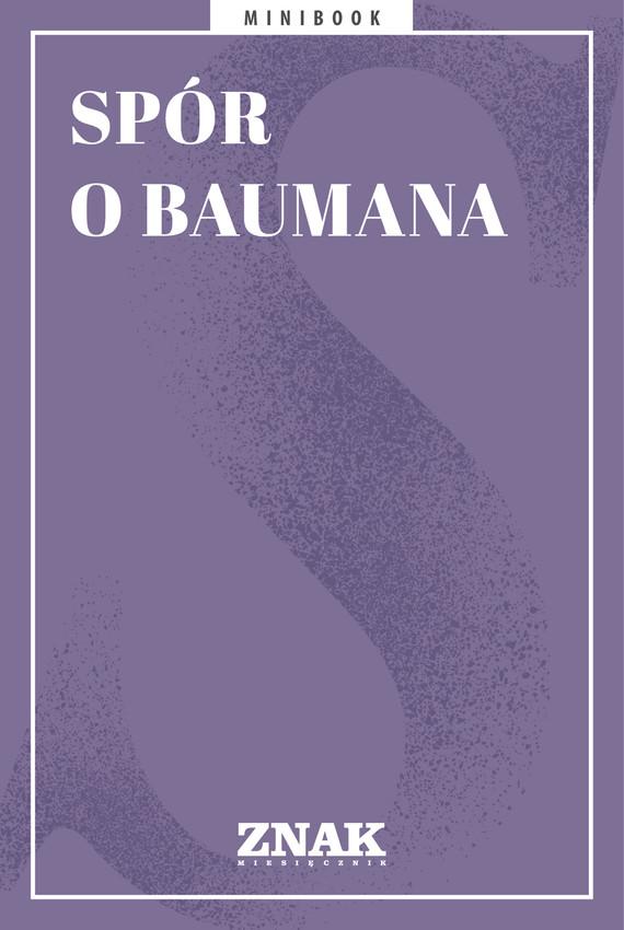 okładka Spór o Baumanaebook | epub, mobi | autor zbiorowy