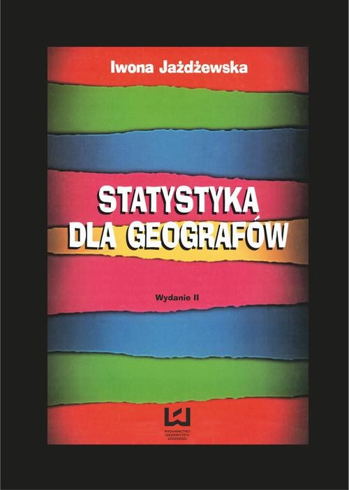 okładka Statystyka dla geografówebook | pdf | Iwona Jażdżewska