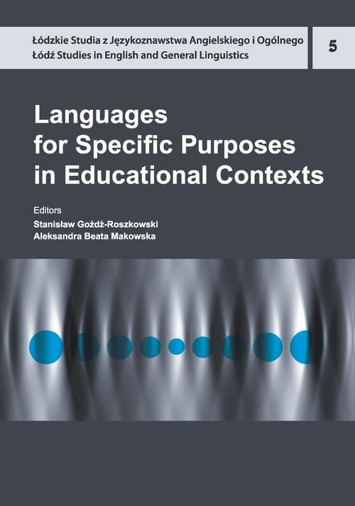 okładka Languages for Specific Purposes in Educational Contextsebook | pdf | NULL