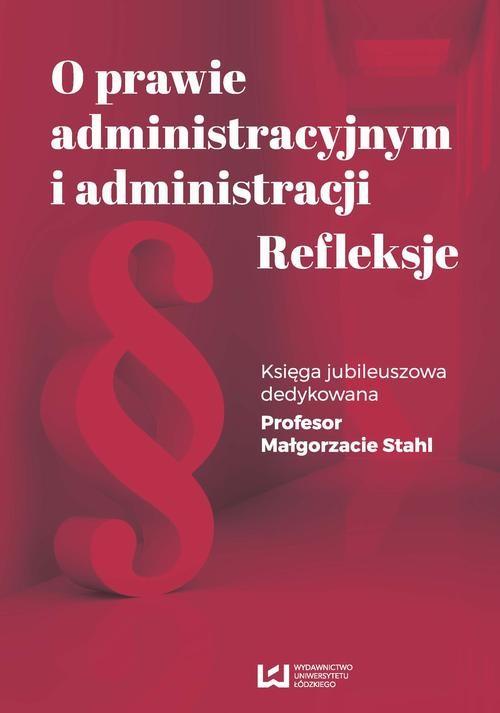 okładka O prawie administracyjnym i administracji. Refleksjeebook | pdf | NULL