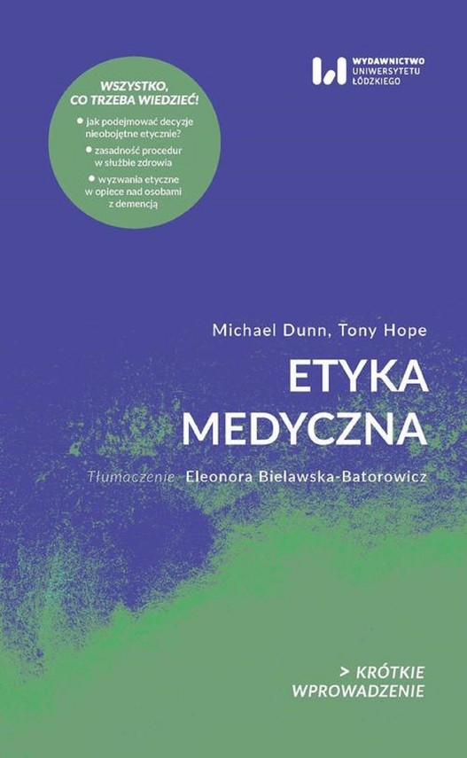 okładka Etyka medycznaebook | epub, mobi, pdf | Tony Hope, Michael Dunn