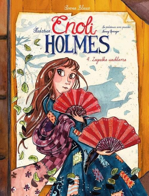 okładka Śledztwa Enoli Holmes Tom 4 Zagadka wachlarzaksiążka     