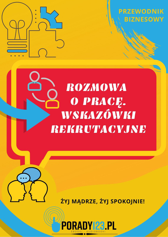 okładka Rozmowa o pracę. Wskazówki rekrutacyjneebook | epub, mobi | Porady123