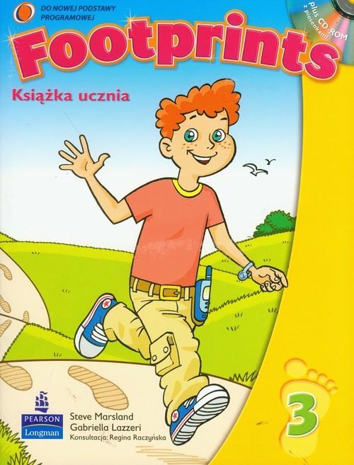 okładka Footprints 3 książka ucznia z płytą CD Szkoła podstawowaksiążka      Steve Marsland, Gabriella Lazzeri