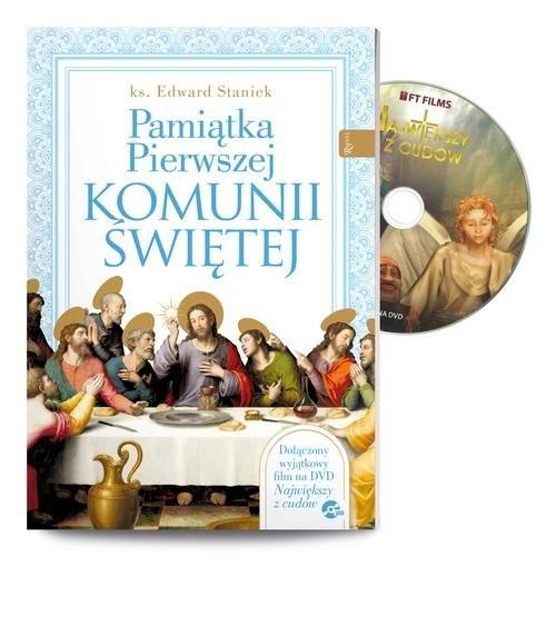 okładka Pamiątka Pierwszej Komunii Świętej z filmem Największy z cudówksiążka      Edward Staniek