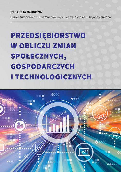 okładka Przedsiębiorstwo w obliczu zmian społecznych, gospodarczych i technologicznychksiążka |  |