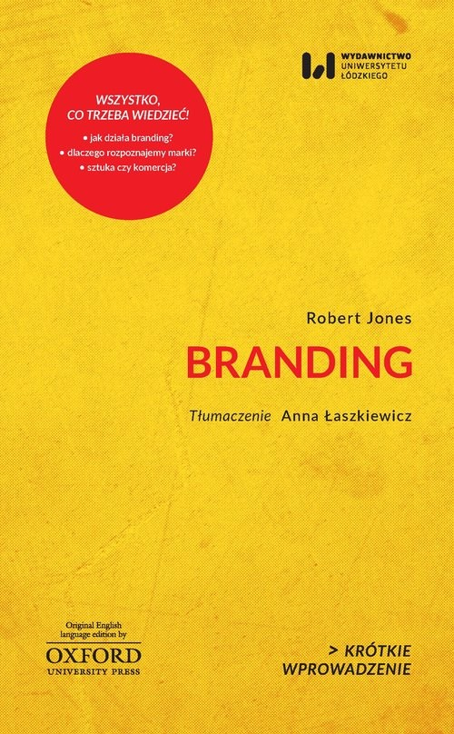 okładka Branding Krótkie Wprowadzenie 29książka      Jones Robert