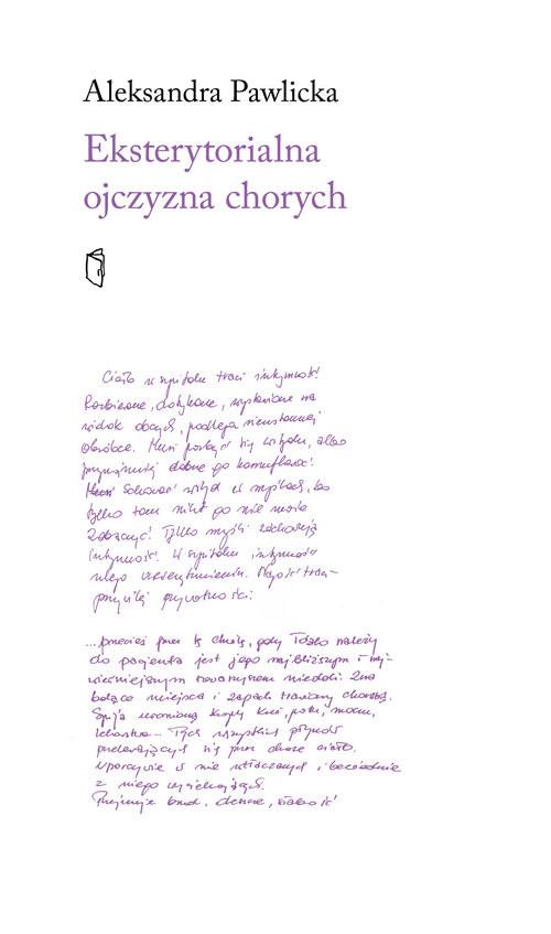 okładka Eksterytorialna ojczyzna chorychksiążka |  | Pawlicka Aleksandra