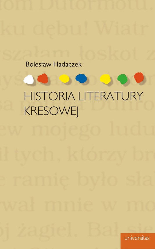 okładka Historia literatury kresowejebook | pdf | Bolesław  Hadaczek