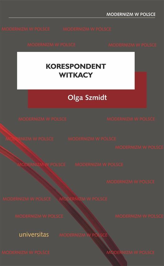 okładka Korespondent Witkacyebook   pdf   Olga Szmidt