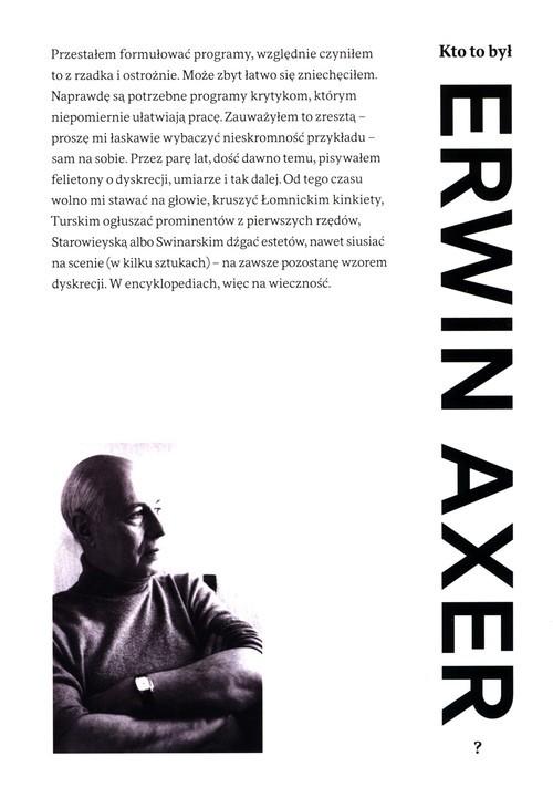 okładka Kto to był Erwin Axer?książka |  |