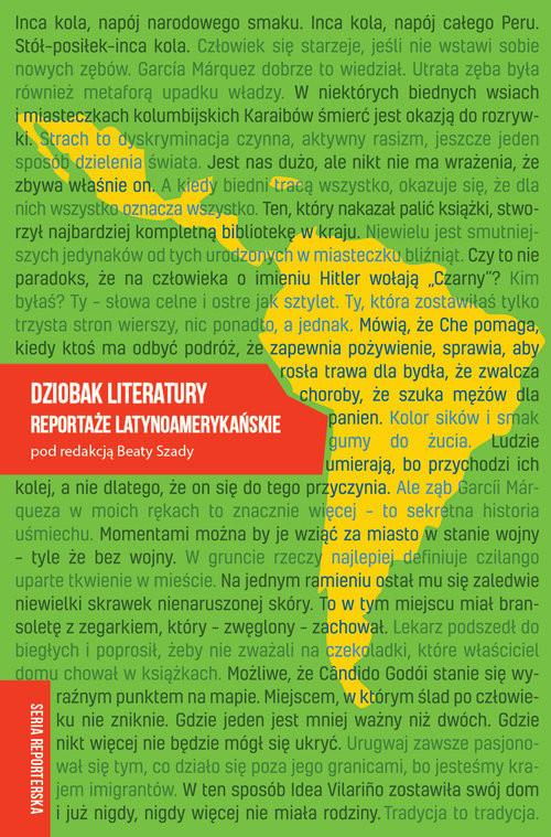 okładka Dziobak literatury Reportaże latynoamerykańskieksiążka |  | Beaty Szady