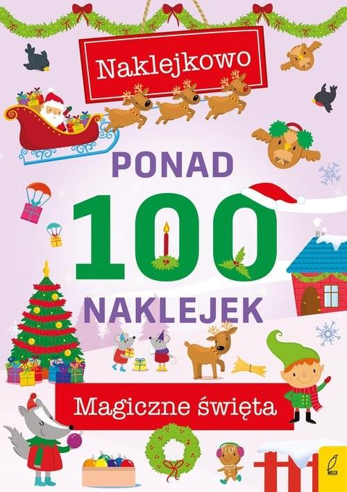 okładka Ponad 100 naklejek Magiczna zimaksiążka     
