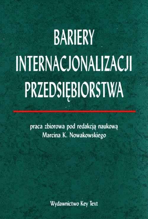 okładka Bariery internacjonalizacji przedsiębiorstwaksiążka |  |