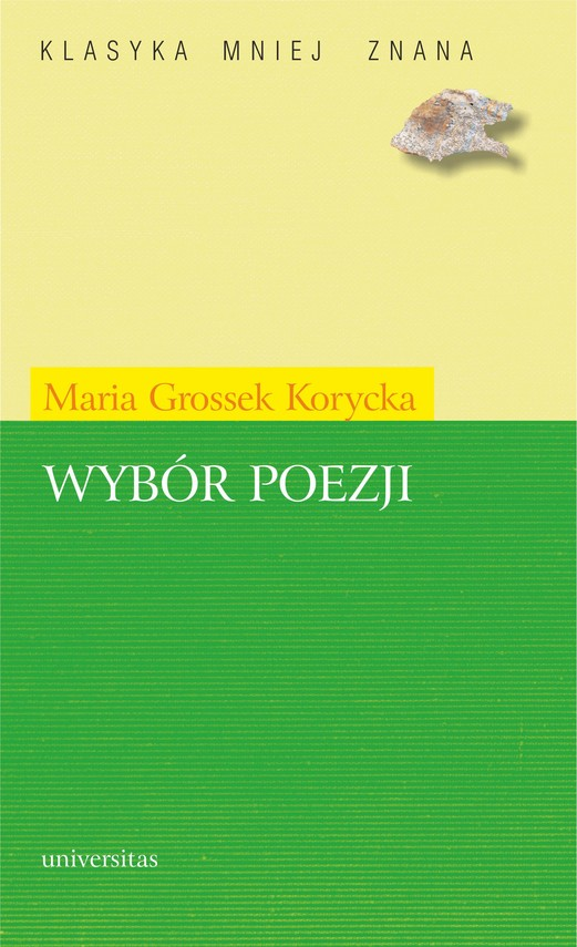 okładka Wybór poezji (Grossek-Korycka)ebook | pdf | Maria Grossek-Korycka