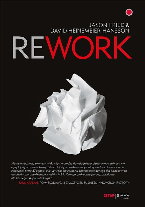 okładka Reworkksiążka      Jason Fried, David Heinemeier Hansson
