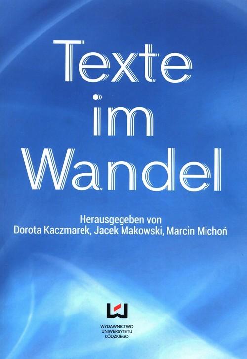 okładka Texte im Wandelksiążka     