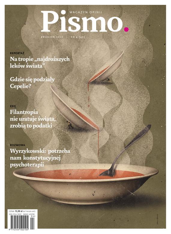 okładka Pismo. Magazyn opinii nr 4/2021ebook   epub, mobi   Filip Springer, Marcin Wicha, Łukasz Lamża, Mirosław Wlekły