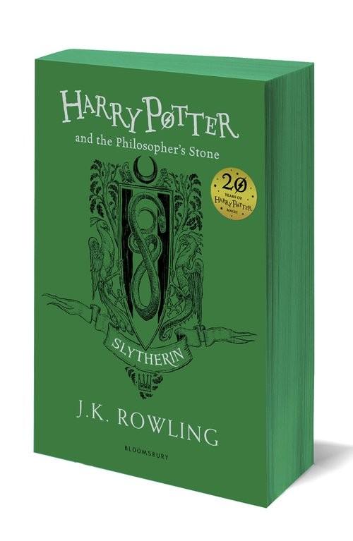 okładka Harry Potter and the Philosopher's Stone Slytherin Edition książka      Joanne Kathleen Rowling