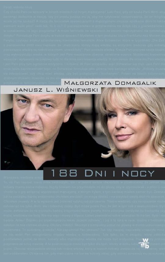 okładka 188 dni i nocyebook   epub, mobi   Małgorzata Domagalik, Janusz Leon Wiśniewski