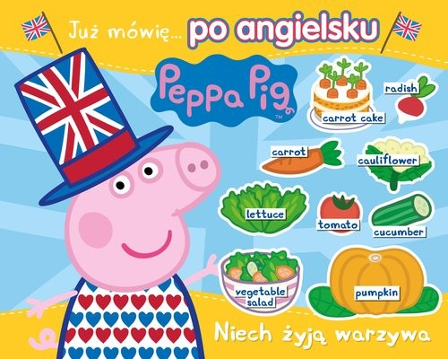 okładka Peppa Pig. Angielski z Peppą. Niech żyją warzywaksiążka |  |