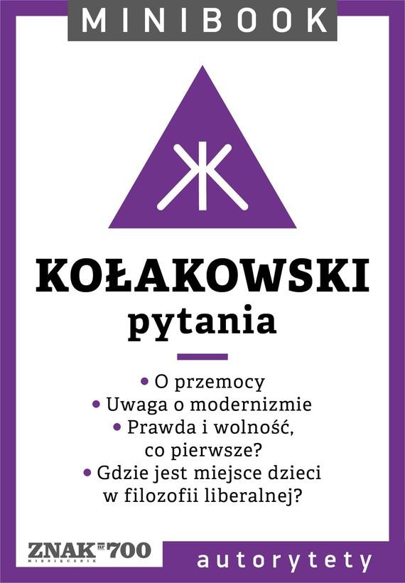 okładka Kołakowski [pytania]. Minibookebook   epub, mobi   Leszek Kołakowski