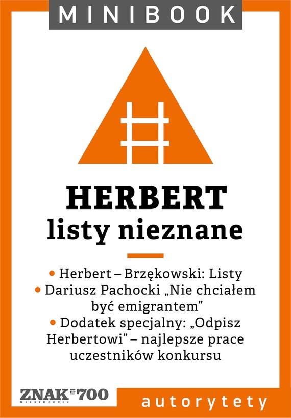 okładka Herbert [listy nieznane]. Minibookebook   epub, mobi   Opracowania Zbiorowe