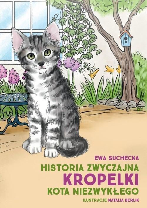 okładka Historia zwyczajna Kropelki kota niezwykłegoksiążka      Ewa Suchecka