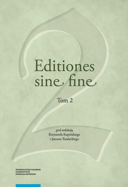 okładka Editiones sine fine Tom 2książka |  |