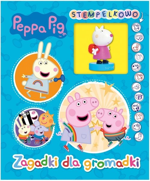 okładka Peppa Pig Stempelkowo Zagadki dla gromadki.książka      null null