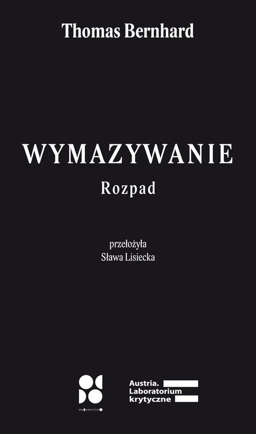 okładka Wymazywanie / Od Doksiążka |  | Thomas Bernhard