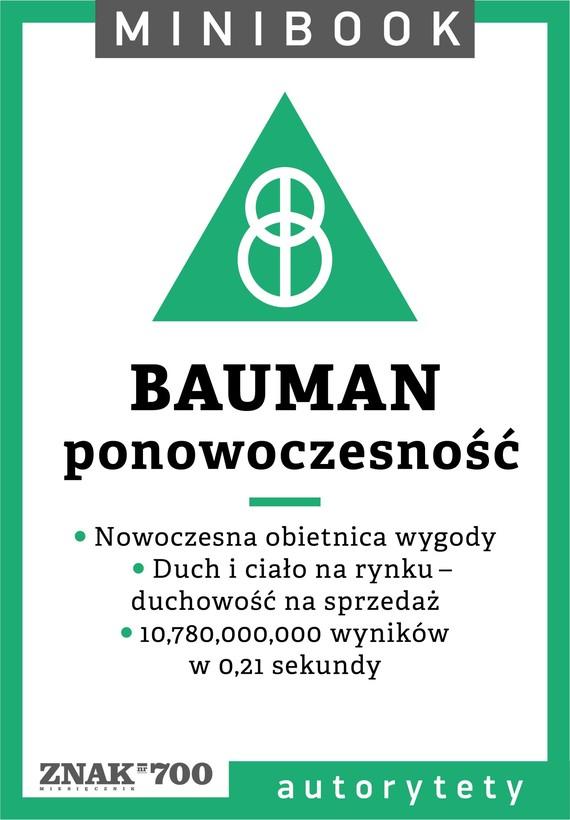 okładka Bauman [ponowoczesność]. Minibookebook | epub, mobi | Opracowania Zbiorowe