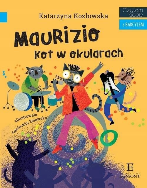 okładka Czytam sobie z Bakcylem. Maurizio. Kot w okularach książka |  | Katarzyna Kozłowska, Agnieszka Żelewska