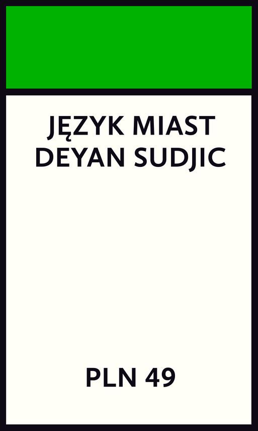 okładka Język miastebook | epub, mobi | Deyan Sudjic