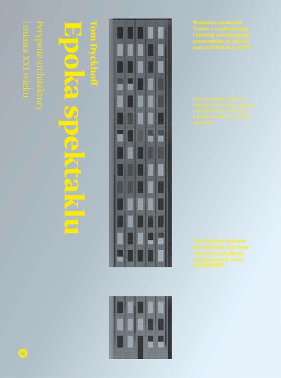okładka Epoka spektakluebook | epub, mobi | Tom Dyckhoff