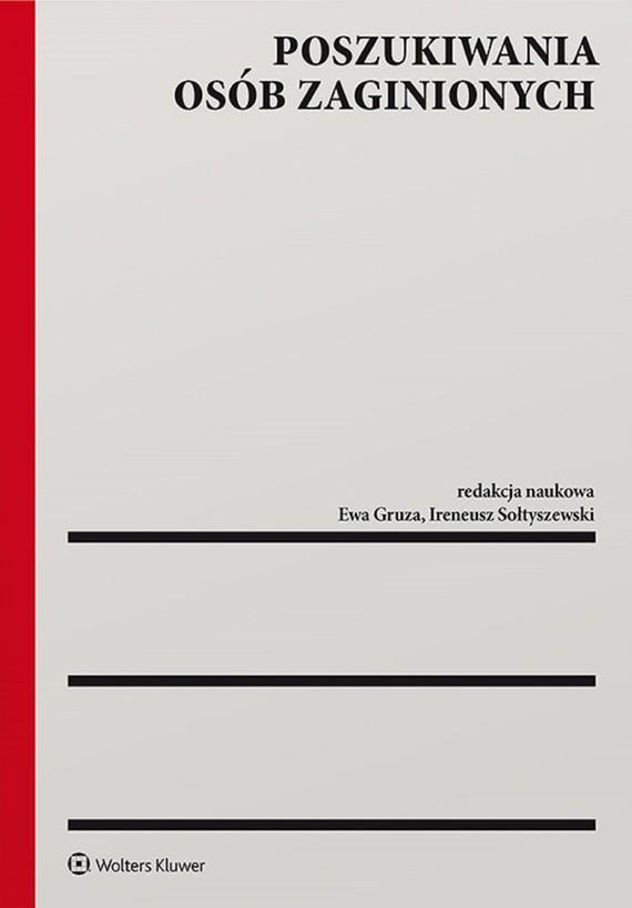 okładka Poszukiwania osób zaginionych (pdf)ebook | pdf | Redakcja naukowa: Ewa Gruza, Ireneusz Sołtyszewski