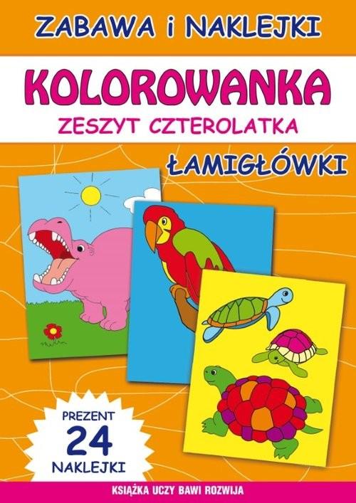 okładka Kolorowanka Zeszyt czterolatka Łamigłówkiksiążka      Guzowska Beata;BindekMarta