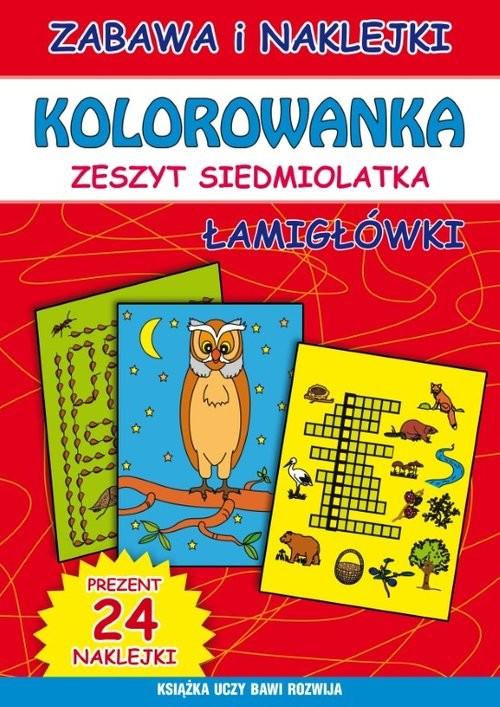 okładka Kolorowanka zeszyt siedmiolatka Łamigłówkiksiążka      Beata Guzowska, Bindek Marta