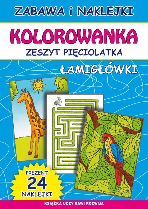 okładka Kolorowanka Zeszyt pięciolatka Łamigłówkiksiążka |  | Beata Guzowska, Bindek Marta