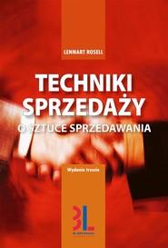 okładka Techniki sprzedaży, Audiobook | Lennart Rosell