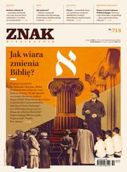 """okładka Miesięcznik """"ZNAK"""", październik 2014, nr 713, Książka  """