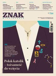 """okładka Miesięcznik """"ZNAK"""", listopad 2014, nr 714, Książka  """